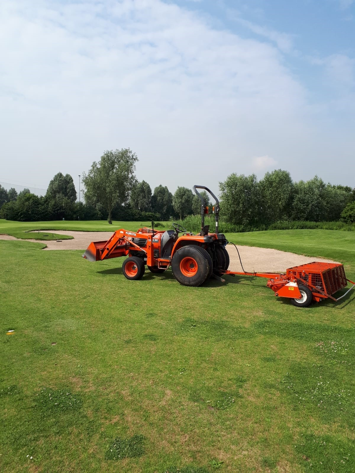 Slitten fairways en voorgreens